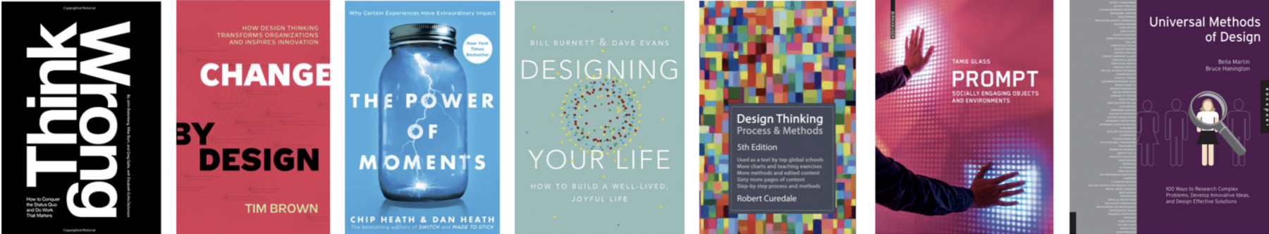 photo collage of Design Thinking book covers