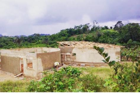 A housing project in Ghana that Gray Garmon worked on