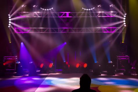 multi-colored concert lighting