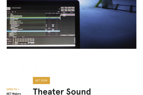 AET 320N Theater Sound Design Poster
