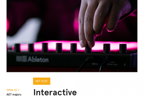 Interactive Music Poster