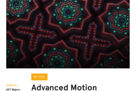 Advanced Motion Graphics Poster