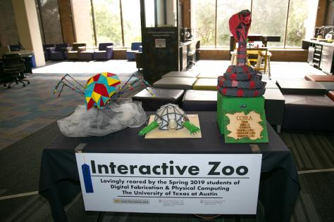 The Interactive Zoo: spider, turtle, and cobra
