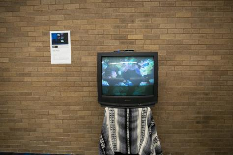 Student project uses sensor to detect people and displays their outline on TV