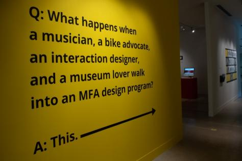 Q: What happens when a musician, a bike advocate, an interaction designer, and a museum lover walk into an MFA design program? A: This.