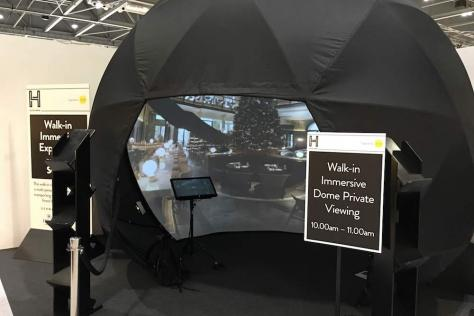Interactive dome created by Michael McKellar