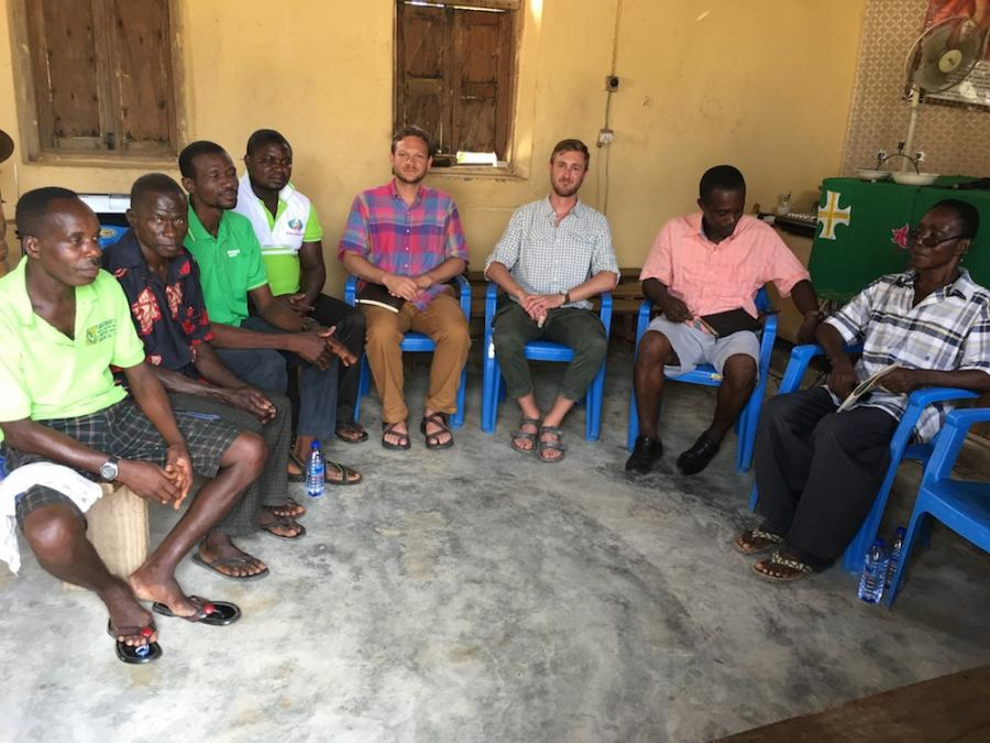 Gray Garmon in Ghana with the Peace Corp