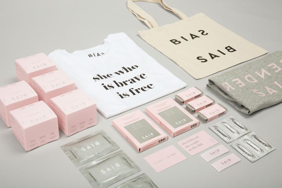 Packaging and marketing materials for SAIB products. Image courtesy of Jiwon Park.