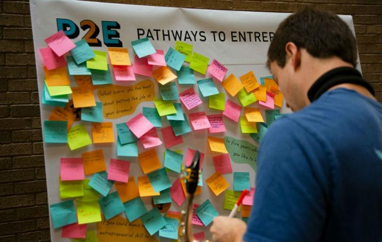 Fine Arts students learn about Pathways to Entrepreneurship at an Ice Cream Social. Photos by Jen Reel.