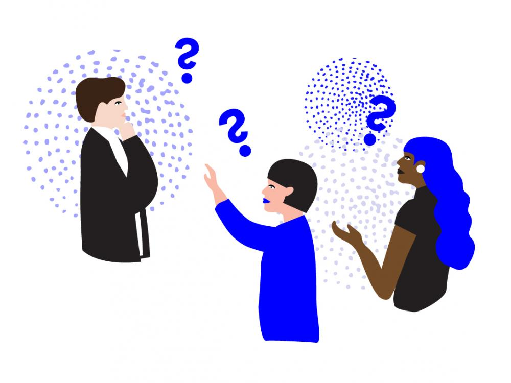 """Illustration for """"How Can You Be a Teacher When You Don't Know the Answers?"""" by Misa Yamamoto."""