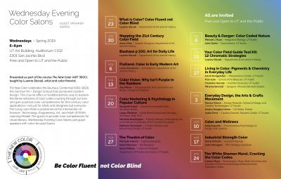 The New Color: Wednesday Evening Color Salons poster