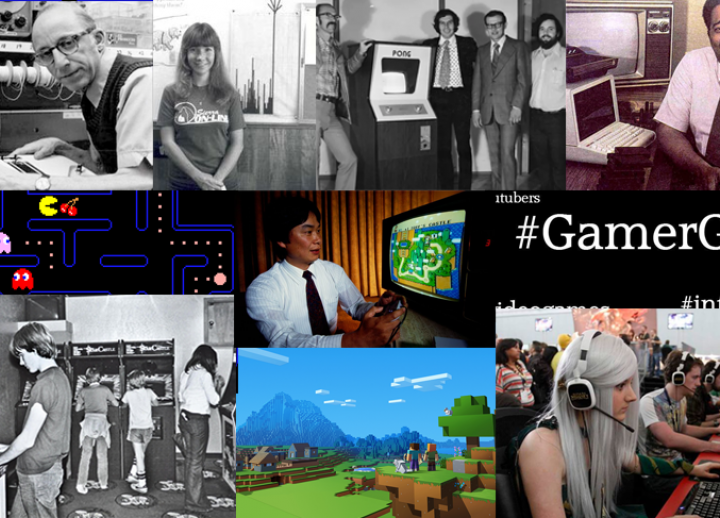 collage of photos from notable moments in the history of video games