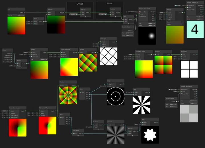 collage of step-by-step guides to creating certain technical art effects