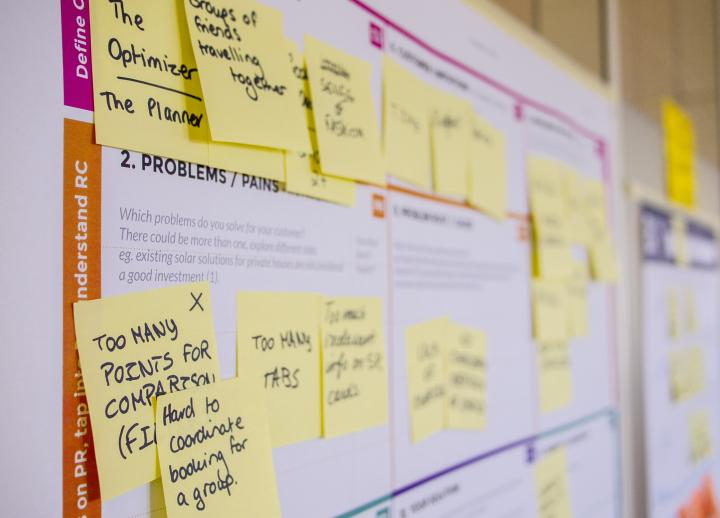 Sticky notes on a board trying to solve problems (Photo by Daria Nepriakhina on Unsplash)