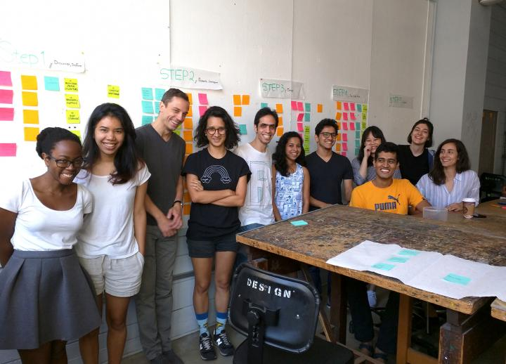 Graduate students in the M.F.A. in Design program.