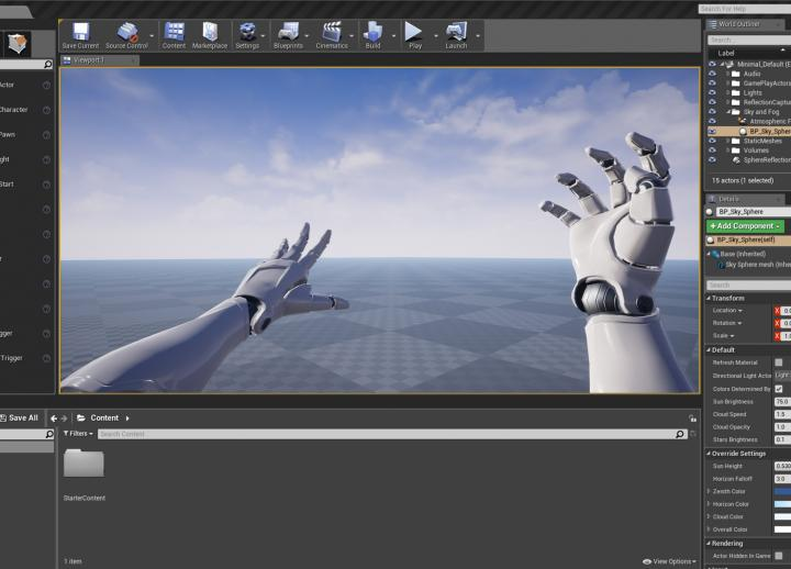 a behind-the-scenes look at animating 3D robot hands in realtime