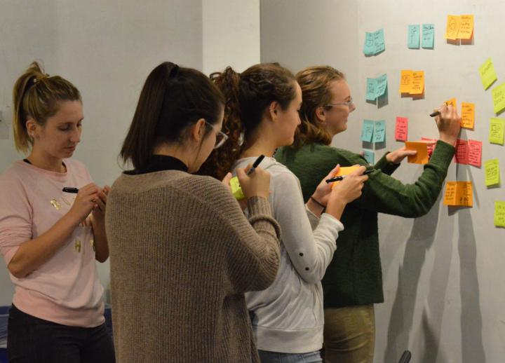 Students collaborate in a class at IBM's design studio in Austin. Photo by Alicia Dietrich.