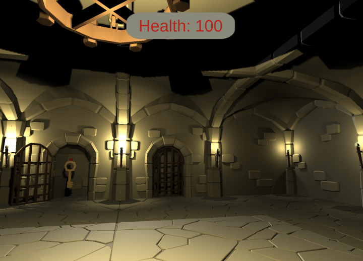 screenshot of a dungeon scene from original game The Hero Is Coming