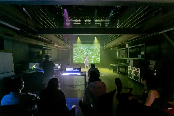 AET student presentation of projection, lighting and interactivity projects from Matt Smith's class at SDCT